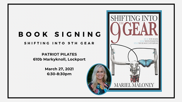 shifting into 9th gear, book signing, lockport, heal your life
