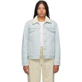 Levis Blue Denim Sherpa Trucker Jacket