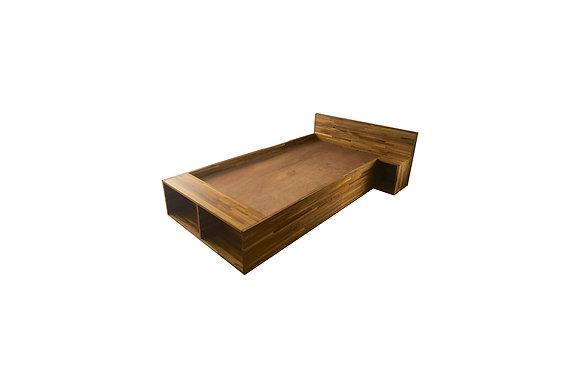 ECO TEAK BED WITH HEADBOARD