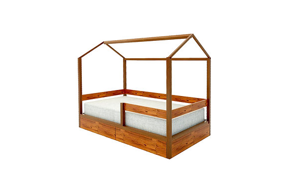 PICCOLI HOUSE SHAPED BED WITH DRAWERS