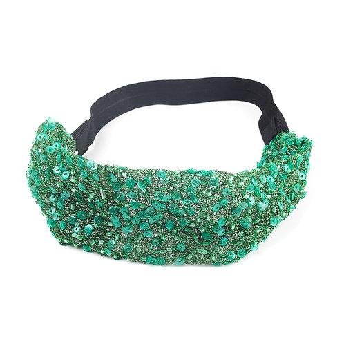 Banda  con lentejuela mini verde
