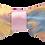 Thumbnail: Diadema de seda damasco bordada con nudo rosa