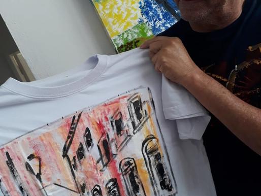 """""""Veste Tua Arte"""": Santê lança linha de camisetas pintadas à mão pelo artista Betto Pereira"""