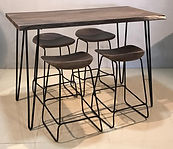 Jofran dining Set 1981-52 Nature Edge 52 Counter - Pub H