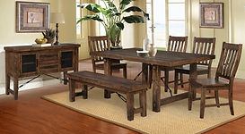 Dining Rustick Lodge dining set with ben
