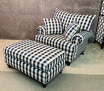 Lancer furniture chair and ottoman