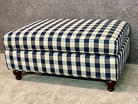 Lancer Furniture ottoman Navy