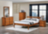 Bedroom Furniture Set Merrimac Honey Oak