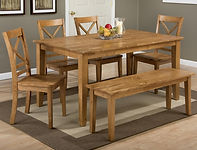 Dining room Simplicity Honey Dining Set.