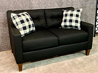 England Furniture Black Love Seat