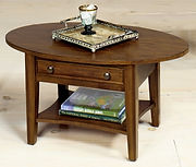 coffee table 1900-02LW oval cocktail tab