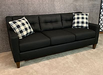 England Furniture Black Sofa