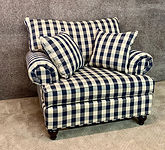 "Lancer Chair and a half Navy $1019 51""W 41""H 43""D"