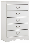 Ashley B129 Anarasia 5 drawer chest whit