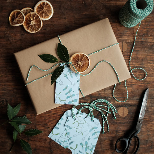 Winter foliage gift tags