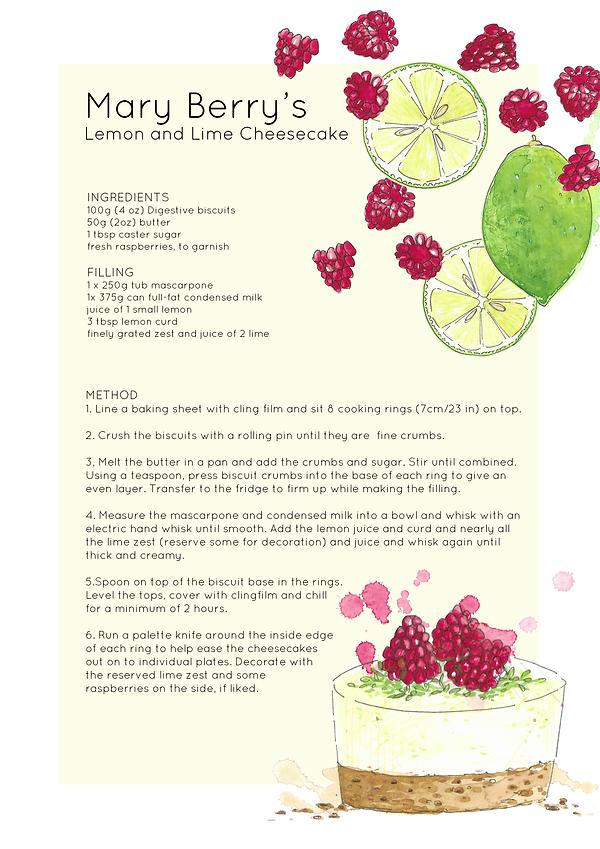 illustrated-watercolour-cheesecake-recipe-sarah-dowling-bristol-food-illustrator