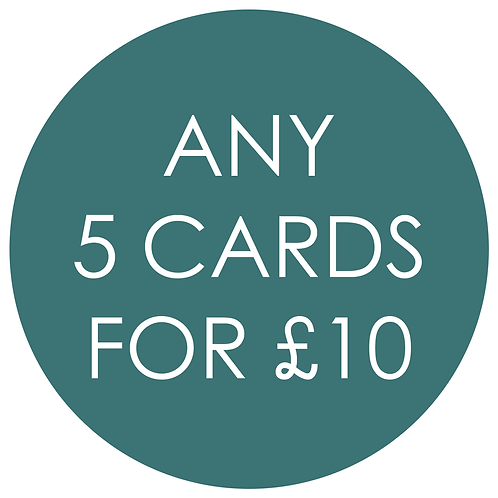 Mix and Match any 5 Cards for £10