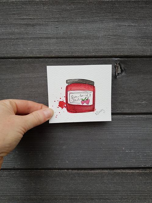 'Little Strawberry Jam' painting