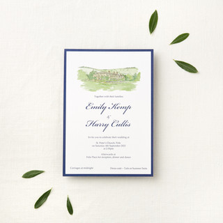 modern-watercolour-wedding-invite-venue-portrait-sarah-dowling-bristol-illustrator