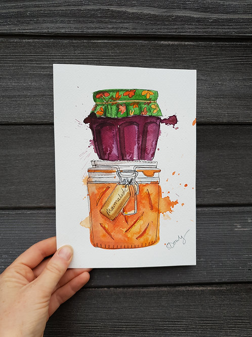 'Stack of Jams' painting