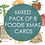 Thumbnail: Pack of 8 Foodie Christmas cards