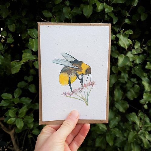 Bee wildflower seed card