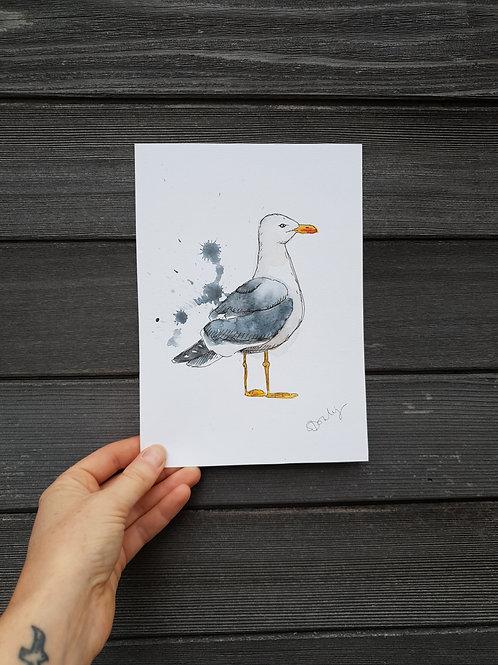 'Splashy Seagul' painting