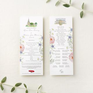 watercolour-wildflower-order-of-service-cards-sarah-dowling-bristol-illustrator