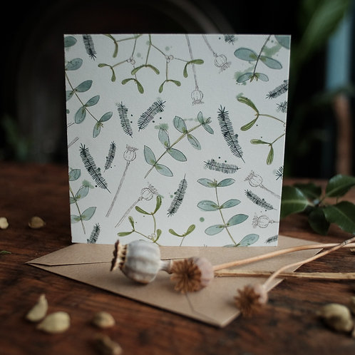 Winter foliage card