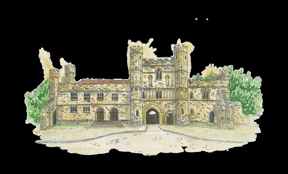 battle-abbey-watercolour-venue-portrait-sarah-dowling-bristol-illustrator