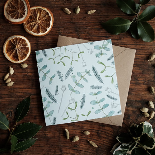 Pack of 6 Winter Foliage cards