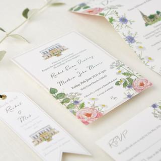 bespoke-wildflower-watercolour-wedding-invite-sarah-dowling-bristol-illustrato