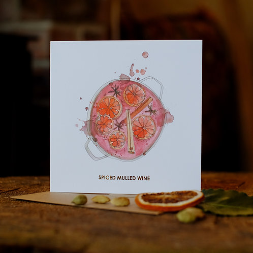 Spiced mulled wine Christmas card