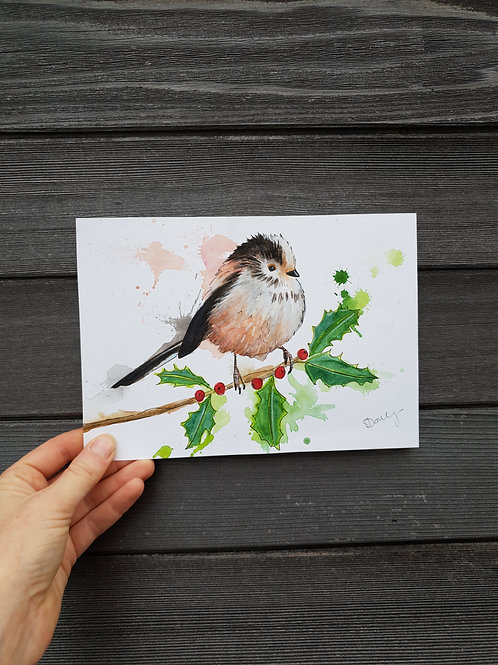 'Long Tailed Tit' painting