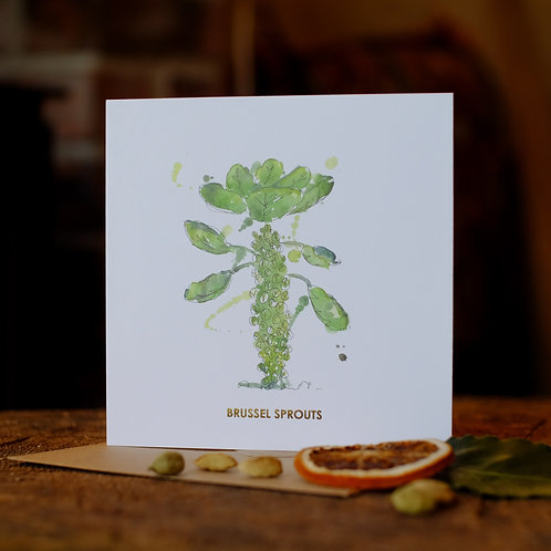 Splashy sprout Christmas card