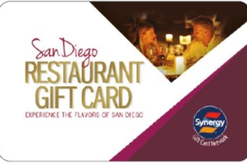 SAN DIEGO RESTAURANTS GIFT CARD #3