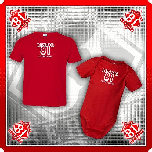 """""""RED"""" Baby Berdoo Onesis & Toddler T"""