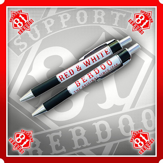 Pen Red & White Berdoo