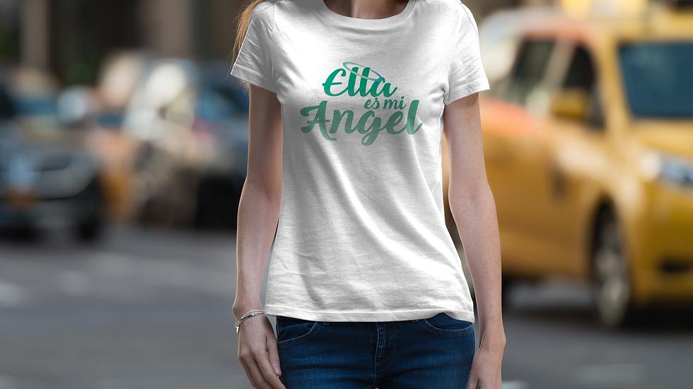 Playera Manga Corta Ella es mi Angel