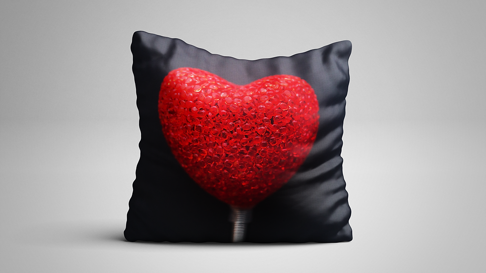 Almohada Heart Glass 30 x 30 CM