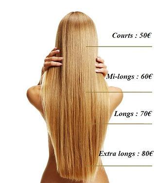 Tarifs Longueur des cheveux chez Magic P