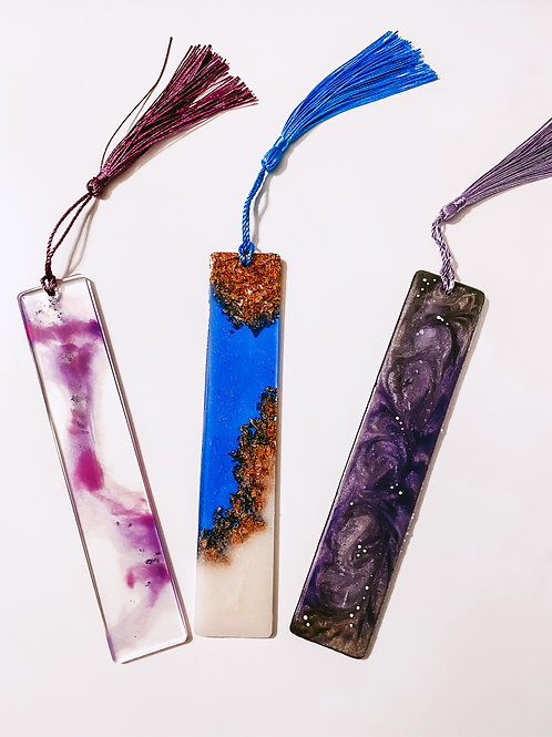 Resin Bookmarks-3 Pack