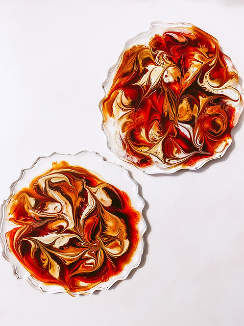 Fire Breather Resin Coaster Set