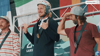 World's First Wing Foiling Contest With Winner Balz and 2nd Michi, both with ENS!S Wings