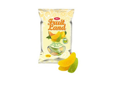 Klim Fruit Land Jelly Candies w/ Pear & Melon Flavor (200g)