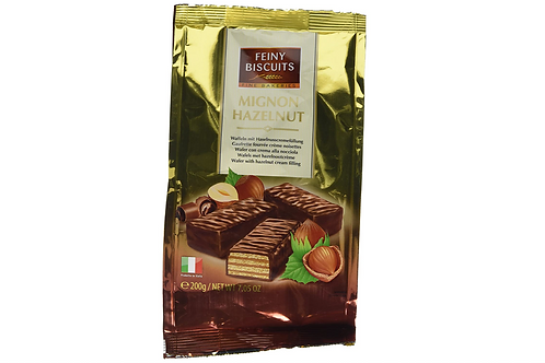 Feiny Biscuits Chocolate Covered Hazelnut Wafers (200g)