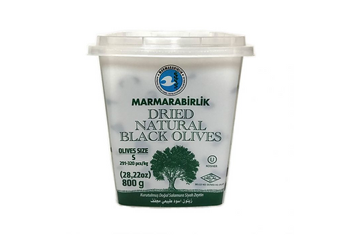 Marmarabirlik Dried Natural Black Olives Small (800g)