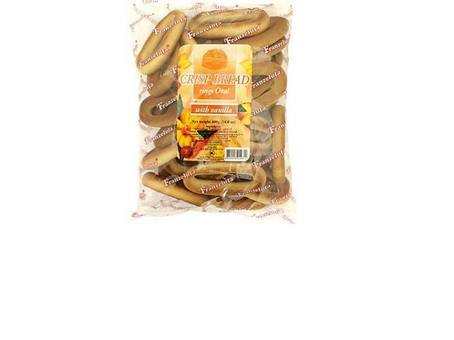 Franzeluta Crisp Oval Rings with Vanilla Flavor (400g)