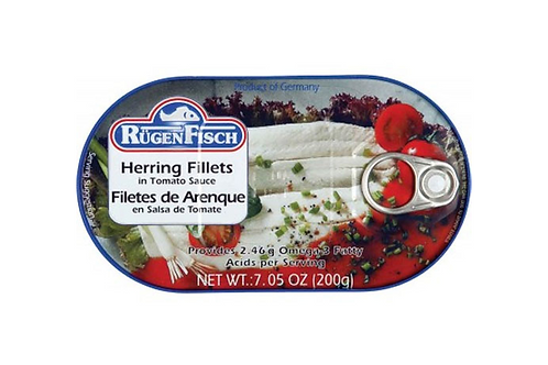 RugenFisch Herring Fillets in Tomato Sauce (200g)