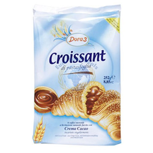 Dora 3 Croissants Chocolate Cream 6pk 300g